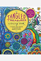 Tangled Treasures Coloring Book: 52 Intricate Tangle Drawings to Color with Pens, Markers, or Pencils - Plus: Coloring schemes and techniques by Jane Monk (2015-08-06) Unknown Binding