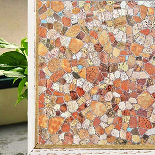 KUNHAN raamsticker raamfolie esdoorn laat mat glas decoratieve film; woonkamer badkamer statische privacy venster Stickers
