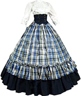 Loli Miss Womens Gothic Victorian Costumes Dresses Long Rococo Ball Gown Cosplay Halloween Masquerade Dress with Belt