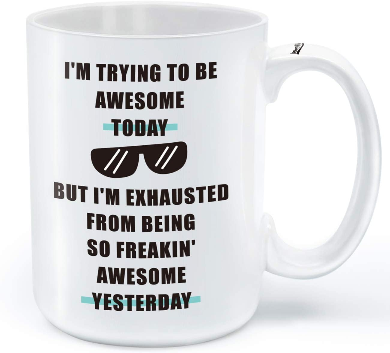 Funny Coffee Mug - I'm Trying inspir Quantity limited Today- To Unique Awesome Be Topics on TV