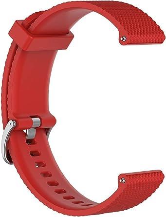 شريط ساعة سيليكون من لايجر متوافق مع ساعات غارمن فيفوأكتيف 3 / فيفوموف / فيفوموف أتش آر / فوريرونير 645 ميوزك / سامسونج غير سبورت / غير أس 2 كلاسيك لون أحمر