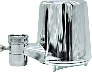 AmazonBasics AMZN-FM-25 Advanced Water Filtration | Equivalent To Culligan FM-25, Chrome Finish Faucet Mount Filter