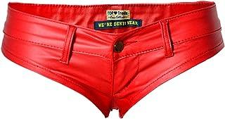 Damshorts wetlook Gogo hotpants shorts