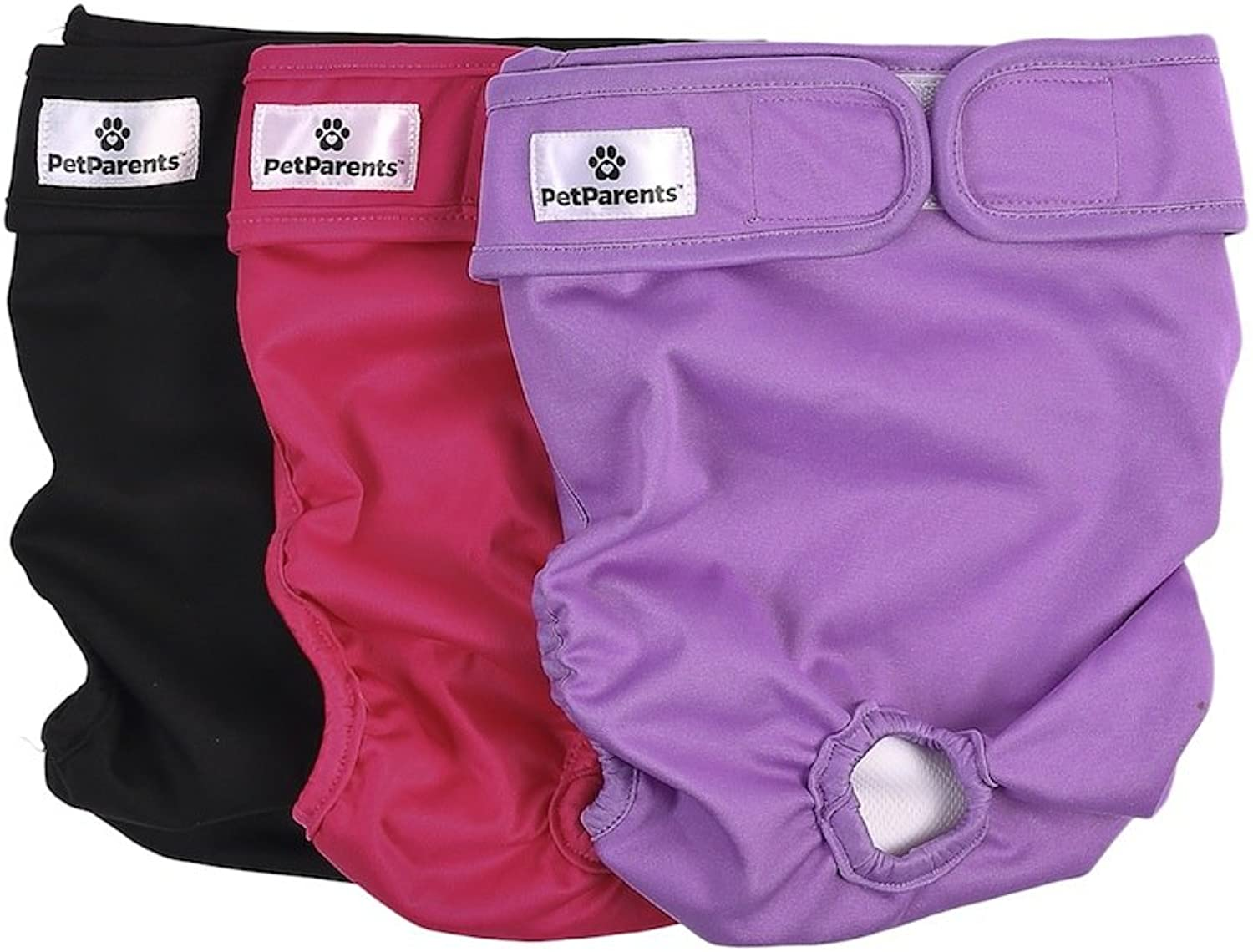 Pet Parents Washable Dog Diapers (3pack) of Doggie Diapers, color  Princess, XLarge Dog Diapers