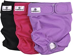 Pet Parents Washable Dog Diapers (3pack) of Durable Doggie Diapers, Premium Female Dog Diapers