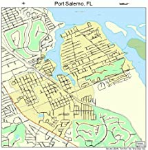 Large Street & Road Map of Port Salerno, Florida FL - Printed poster size wall atlas of your home town