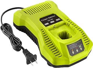 Energup Replacement Ryobi P117 Dual Chemistry Charger Li-ion & Ni-cad Ni-Mh Battery Charger 12V 18V MAX for Ryobi One+ Plus Battery P100 P102 P103 P105 P107 P108 1400670 P117 P118 Ryobi Charger