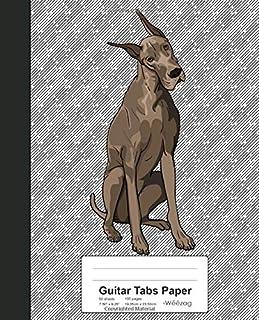 Guitar Tabs Paper: Book Great Dane Dog