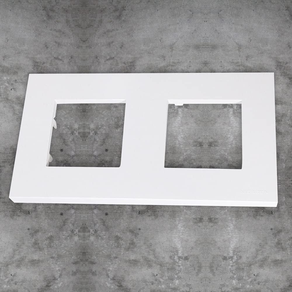 Niessen - n2272.1bl marco basico 2 ventanas zenit blanco Ref. 6522005242