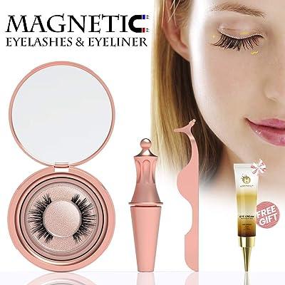 Magnetic Eyelashes, Petribe Magnetic Eyeliner W...
