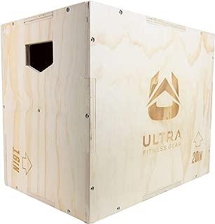 Ultra Fitness Gear 3 in 1 Wood Plyo Box for Jump, Crossfit, MMA Training. Plyometrics. Sizes: 30/24/20, 24/20/16, 20/18/16, or 16/14/12