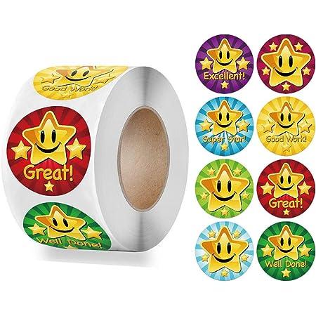 Ivy Star Stickers Auto-adhésif Sticky Labels Prof Récompense École Récompense