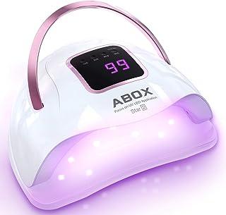 ABOX Lampara LED Uñas UV 72W con 4 Temporizadores (10s, 30s, 60s, 99s), Sensor Automático y Diseño Portátil, Secador de Uñas para Manicura/Pedicure Nail Art en el Hogar y el Salón