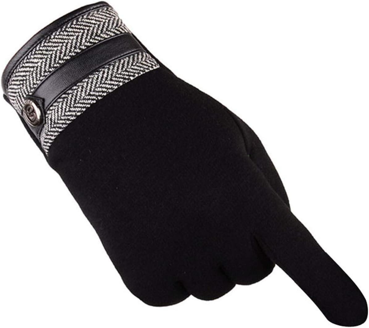Lupovin-Keep Warm Men's Potent Winter Ardent Motorcycle Ski Snow Ski Gloves Easy Gloves Non-Slip (Color : A)
