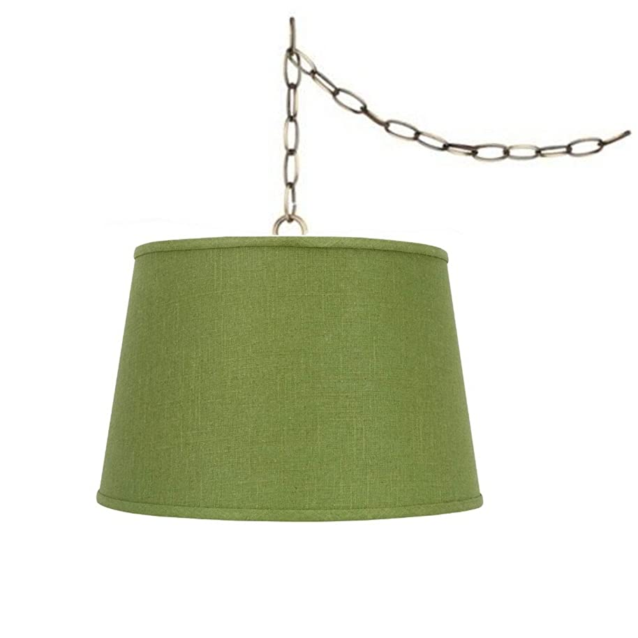 Upgradelights Swag Lamp Light Pendant Plug in Chain Hung Apple Green Lamp