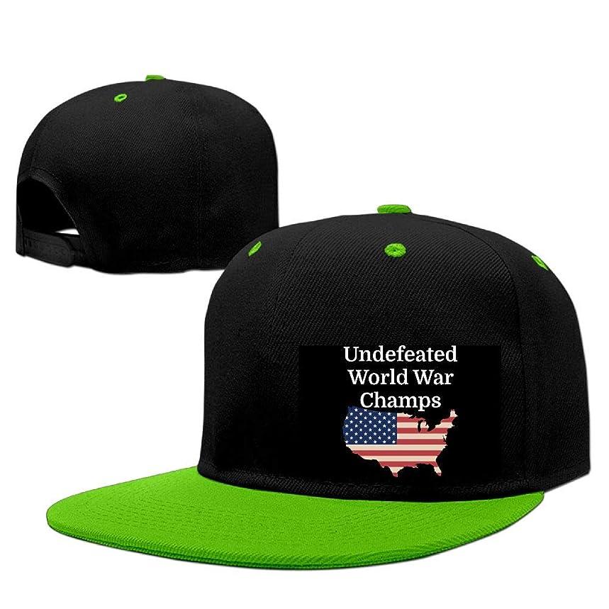 Undefeated World War Champs Men Women Adjustable Flat Brim Baseball Cap Hip Hop Cap Hat