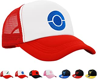 PopCrew Embroidered Team Trainer Hat for Anime Cosplay Costume, Trucker, Snapback Cap