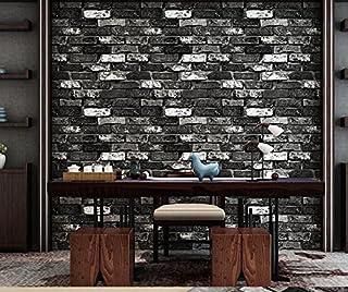 Meaosy Appartement Chinoise Antique Imitation Brique Papier Peint Gris  Brique Rouge Brique Gris Brique Antique Brique