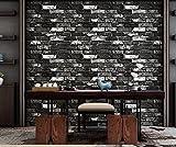 Meaosy appartement chinoise antique imitation brique papier peint gris Brique rouge...
