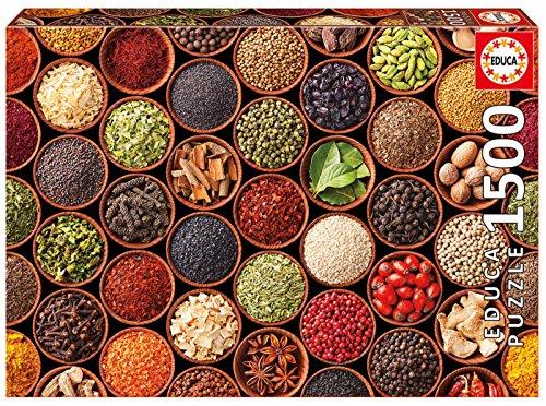 Educa Borras - Genuine Puzzles, Puzzle 1.500 piezas, Especias y condimentos (17666)