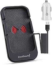 شارژر سریع اتومبیل بی سیم ، شارژر اتومبیل ZealSound Qi دارای مجوز شارژ اتومبیل ایستگاه باریک و اسکله ایستگاه نگهدارنده تلفن برای اتومبیل با USB QC 3.0 آداپتور 10W / 7.5W شارژ سریع سریع برای همه تلفن های فعال Qi (سیاه)