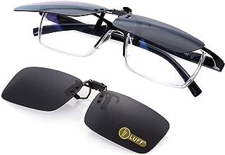 Polarized Unisex Clip on Sunglasses for Prescription Eyeglasses-Good Clip Style Sunglasses for Myopia Glasses Outdoor/Driv...