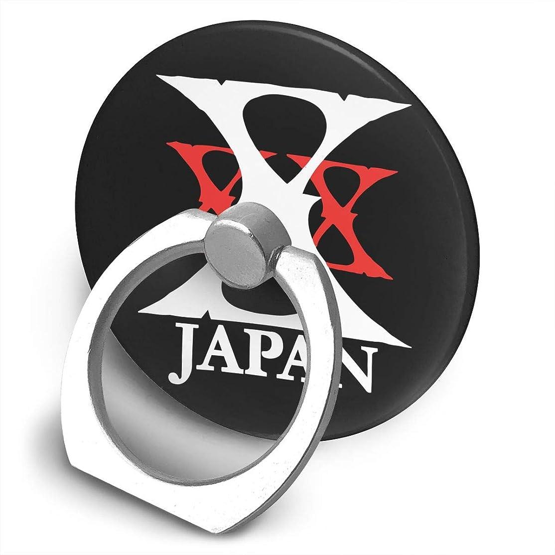 伝統的投資する吹きさらしX JAPAN バンド プリント スマホリング ホールド リング 丸型 指輪リング 薄型 おしゃれ 落下防止 360° ホルダー 強吸着力 IPhone/Android各種他対応