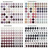Dot Farbe Aufkleber Runde Punktaufkleber Selbstklebende Markierungspunkte 2cm (960 Klebepunkte auf 20 Bogen)