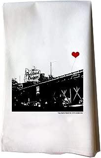 Portland Oregon Stag Sign Floursack Tea Towel