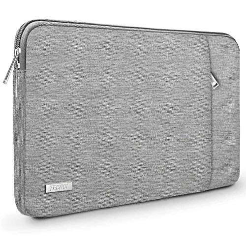 TECOOL Laptop Tasche Hülle für 12,3 Zoll Surface Pro 7/6/5/4, 2018 2019 2020 MacBook Air/Pro 13, 12,9 iPad Pro, HP Envy 13 Notebooktasche Schutzhülle Hülle Sleeve, Grau