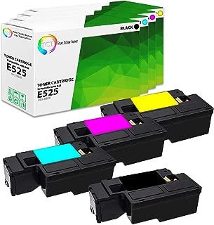 TCT Premium Compatible High Yield Toner Cartridge Replacement for Dell E525W MFP Printers (Black 593-BBJX, Cyan 593-BBJU, Magenta 593-BBJV, Yellow 593-BBJW) - 4 Pack