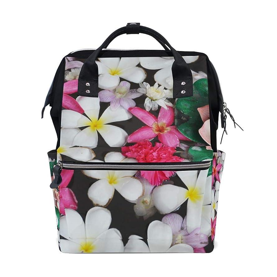Backpack White Pink Petaled Flowers School Rucksack Diaper Bags Travel Shoulder Large Capacity Bookbag for Women Men