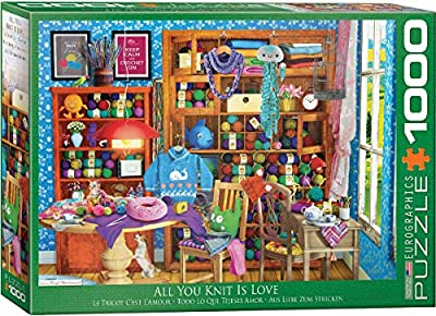 EuroGraphics 6000-5405 All You Knit is Love by Paul Normand 1000Piece Puzzle from EuroGraphics