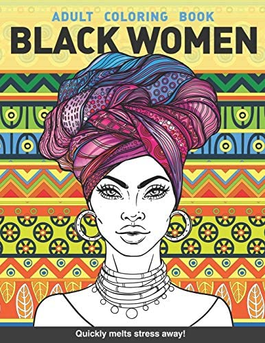 Black women Adults Coloring Book Beauty queens gorgeous black women African american afro dreads product image