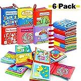RenFox 6 Stücke Stoffbuch für Babys, Soft-Bilderbuch Baby Spielzeug Pädagogisches Kleinkindspielzeug Baby Buch zur Stärkung der Eltern-Kind-Beziehung
