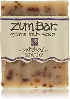 Indigo Wild: Zum Bar Goat's Milk Soap Bar, Patchouli 3 oz (3 pack)