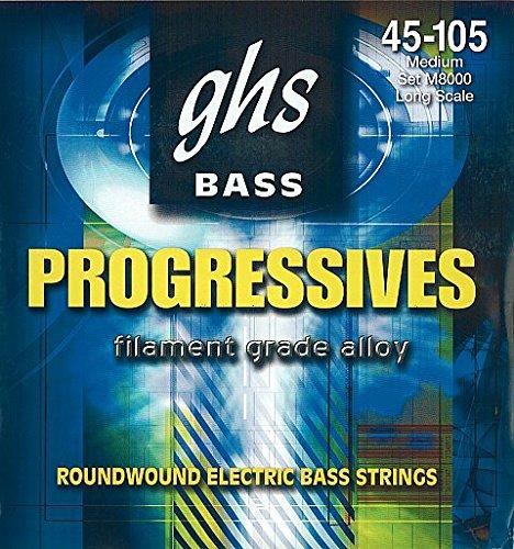 GHS M8000 45-105 Progressives Series エレキベース弦