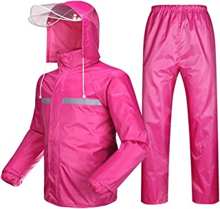Radvihay Rain Suit for Men and Women,Adults Reusable Raincoat Jacket Trouser Set,Waterproof Rainproof Windproof Hooded Out...