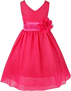 4e8402efc56df TiaoBug Enfant Fille Robe Princesse Soirée Cérémonie Robe Demoiselle  d honneur Mariage Robe Mariee Robe