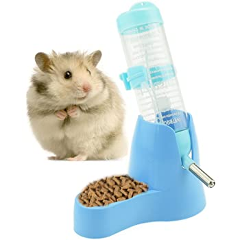 Newweic Hamster Water Bottle No Drip Dwarf Hamster Water Dispenser Small Animal Water Bottle for Hamsters Rats Mice