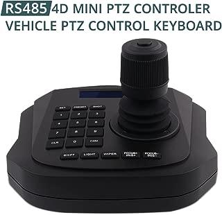 PTZ Controller,LEFTEK Vehicle PTZ Joystick CCTV Keyboard Analog Camera RS485 Controller With LCD Screen Display Menu (4D joystick controller)