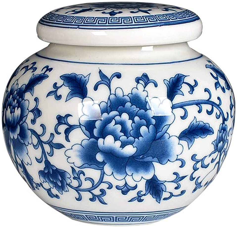 4.5cm Jingdezhen Blue White Ceramic Jar Sto Tea Caddy Ranking Gorgeous TOP8 Travel