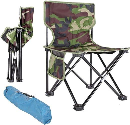 OLDF Multifonction portable Pliant pêche Chaise Camping randonnée Camouflage Chaise Plage Pique-niquer Chaise siège Tabouret 4-Taille