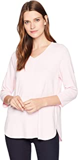 Jeans Women's Baby French Terry V-Neck 3/4 Sleeve Top