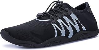 TSLA Men Women & Kids Slip-On Quick-Dry Minimal Beach Aqua Shoes Pool Beach Walking Running Lightweight Aqua Socks for Bea...
