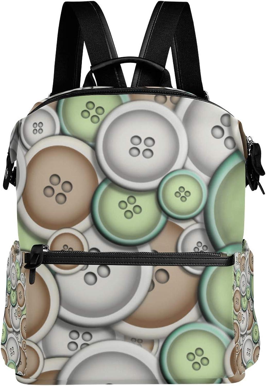 Shoulder Bag Mixed Buttons Daypacks Teenagers's Travel Bagpacks Casual Daypack Bag Backpack for Men Women