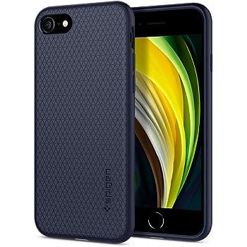【Spigen】 iPhone SE ケース [第2世代] / iPhone8 / iPhone7 新型 対応 TPU ソフトケース 耐衝撃 米軍MIL規格取得 カメラ保護 傷防止 衝撃吸収 Qi充電 ワイヤレス充電 SE2 アイフォンSE (2020年モデル) アイフォン8 アイフォン7 カバー シュピゲン リキッド・エアー 042CS21189 (ミッドナイト・ブルー)