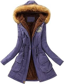 Kulywon Women Winter Hooded Imitation Fur Long Coat Plush Rabbit Ears Coat