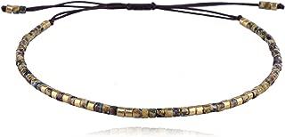 C·QUAN CHI Woven Strand Bracelet Women String Sead Beaded Wax Rope Handmade Braided Adjustable Bracelet Women Gifts