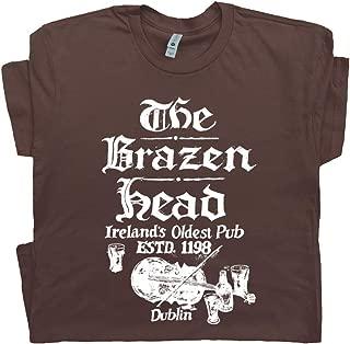 Dublin Ireland T Shirt Famous Irish Pub Tee Vintage Beer Bar Whisky Tshirt Graphic Mens Womens